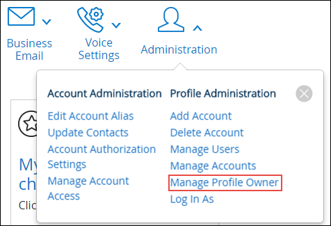 Select Update Profile Owner