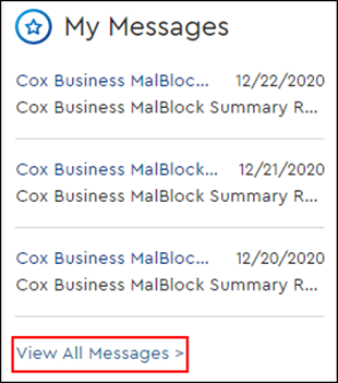 Image of My Messages View All Messages