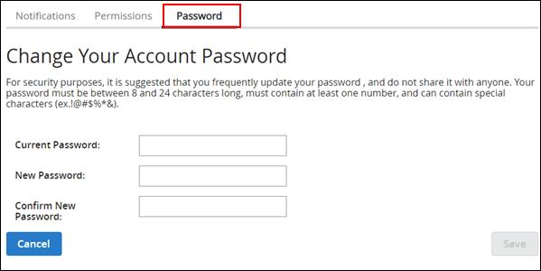 Image of Change Account Password