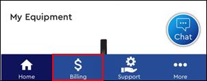 Image of Billing menu