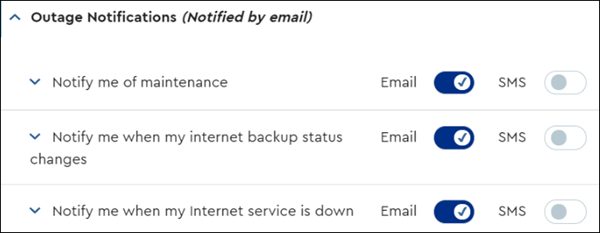 image of Outage NOtification Options