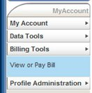 Select Billing Tools then View or Pay Bill