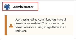 Image of Administrator selection