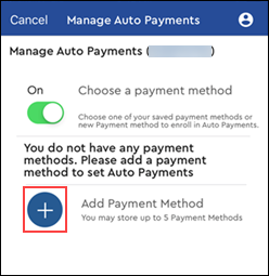 Image of Add Payment Method icon