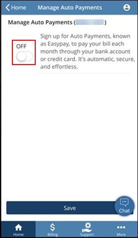 Image of Auto Payment Toggle Button