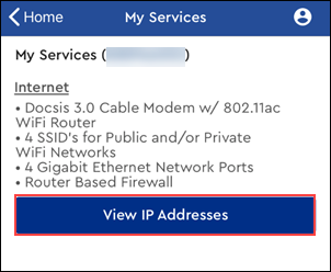 Image of Internet services and IP Addresses bar