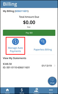 Image of Manage Auto Payments icon