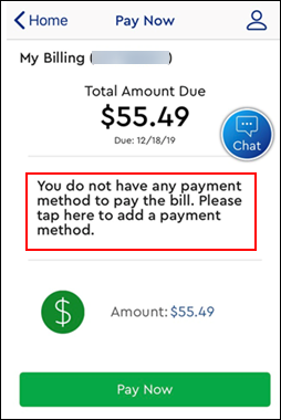 Image of Pay Now screen - Add Payment Method