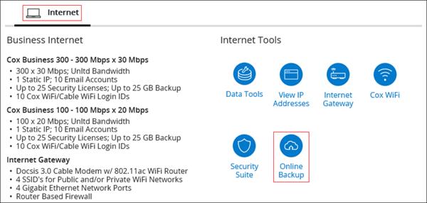 Image of MyAccount Online Backup Icon