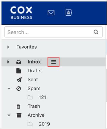 image of the inbox icon