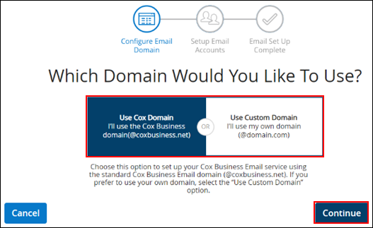 image of the myaccount which domain page