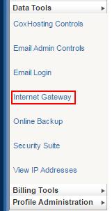 Select Internet Gateway