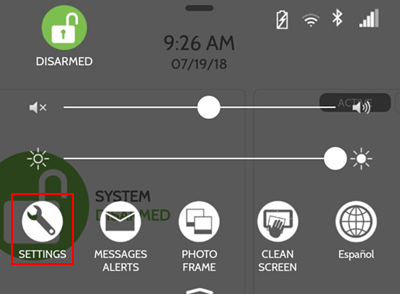 image of the settings menu icon outlined with a red box