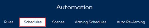 Image of Automation menu