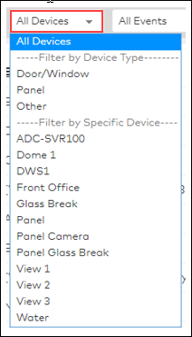 image of the all devices menu