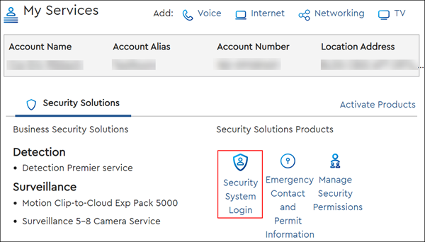 image of the my account security solutions icon