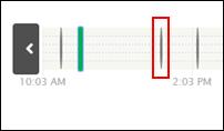 image of timeline sensor indicator lines