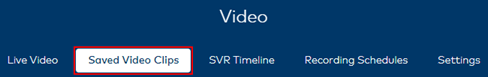 image of the saved video clips button