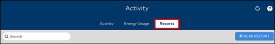 Image of Activity window Reports button