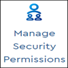 Image of the Manage Security Permissions window