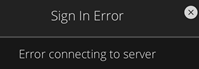 Image of Sign In Error