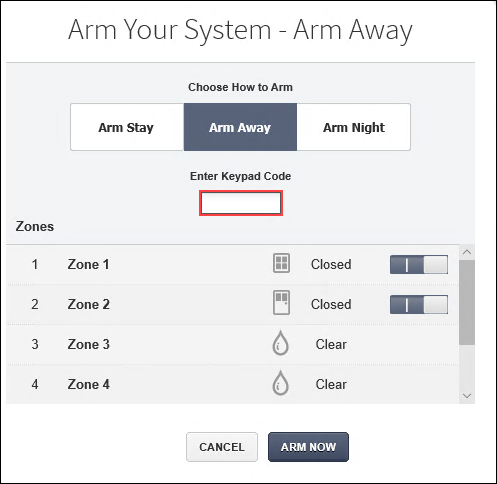 Image of Arm Your System window