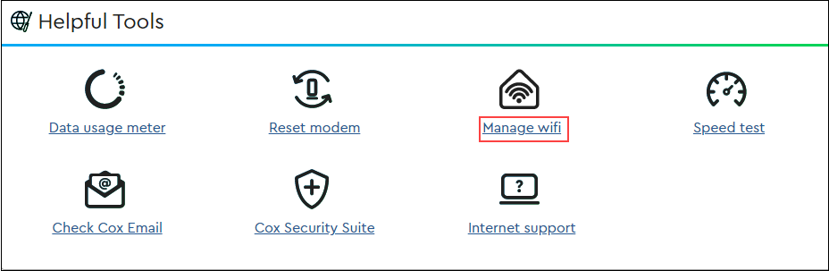 image of Manage wifi link