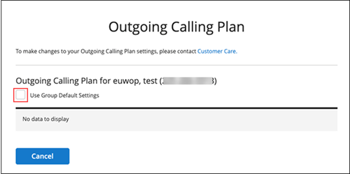 Image of MyAccount Calling Plan by User