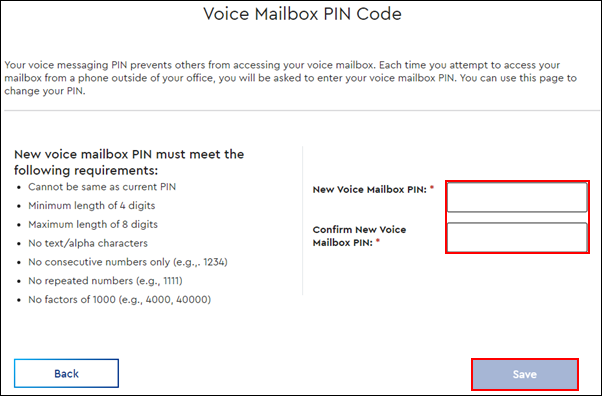 image highlighting the required fields and save button