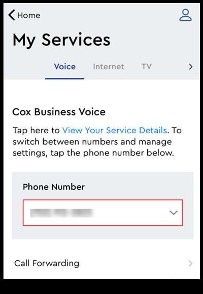 Image of MyAccount Call Foward Phone Number