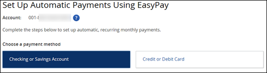 EasyPay options