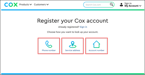 Cox com Account Registration and Preferences