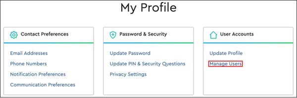 Imagen de Mi perfil, Administrar usuarios