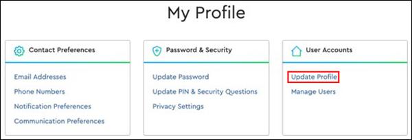 Image of My Profile, Update Profile