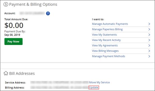 Image of Billing Address Update link