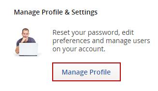 manage profile