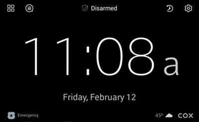 Image of Clock home screen