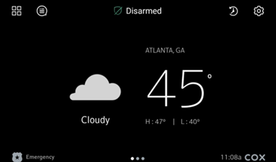 Image of Weather home screen