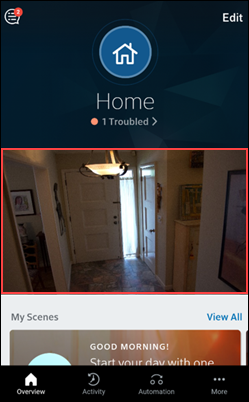 image of home screen