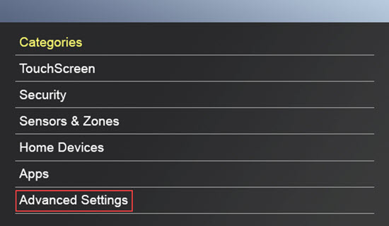 Advanced Settings