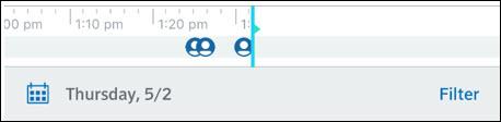 imagen de la vista de la línea de tiempo