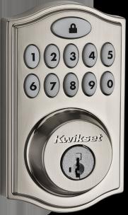 Cerradura de puerta de níquel satinado