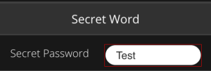Secret Word section