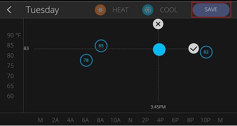 Saving Thermostat Schedule