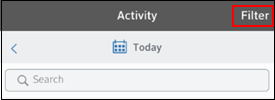 Image of Activity Filter button