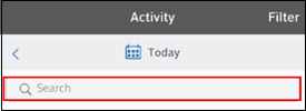 Image of Activity Search Bar