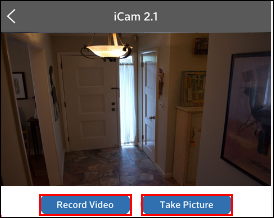 Image of Record Video and Take Picture buttons