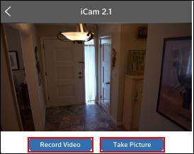 Imagen de los botones RecordVideo yTakePicture