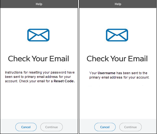 Image of Check Your Email screens