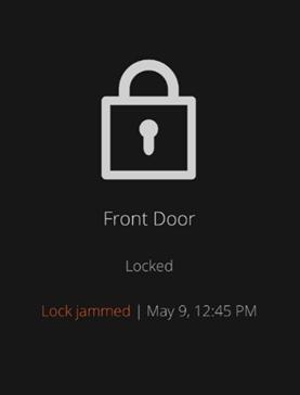 Warning Message for Door Lock